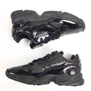 Women's Adidas Falcon Patent Black Kylie Size 6.5